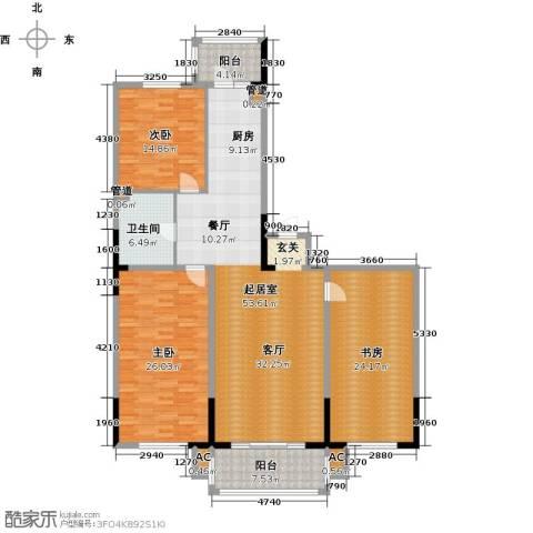 好民居康泰嘉园3室0厅1卫0厨158.00㎡户型图