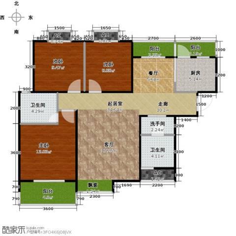 东岭欣城3室0厅2卫1厨110.00㎡户型图