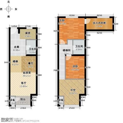 裕东公寓2室0厅2卫0厨99.26㎡户型图