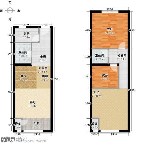 裕东公寓2室0厅2卫1厨93.46㎡户型图