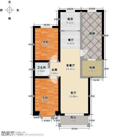 吴兴庄园2室1厅1卫1厨94.00㎡户型图