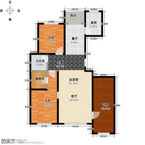 双兴六月天3室0厅1卫1厨156.00㎡户型图