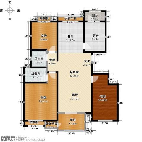 东亚原香小镇3室0厅2卫1厨129.00㎡户型图