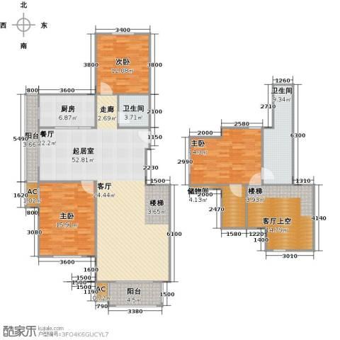 石家庄国粹3室0厅2卫1厨193.00㎡户型图