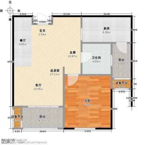 邦泰中央花城1室0厅1卫1厨65.00㎡户型图