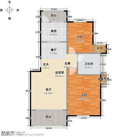 喜利达名苑2室0厅1卫1厨115.00㎡户型图