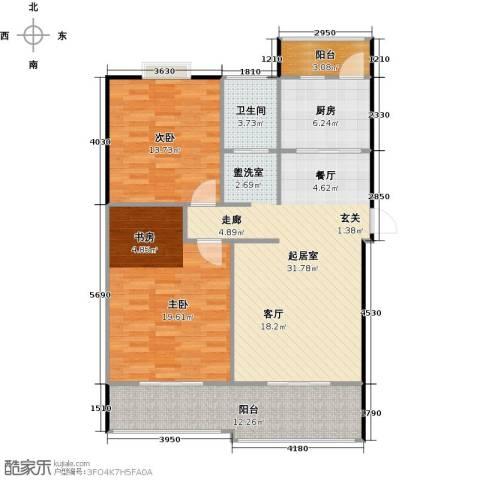 喜利达名苑2室0厅1卫1厨122.00㎡户型图