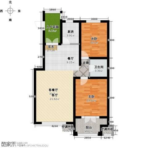 海韵星城2室1厅1卫1厨86.26㎡户型图