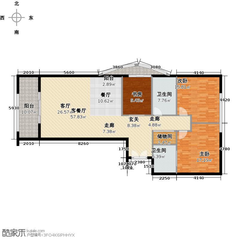 温莎国际公寓户型3室1厅2卫