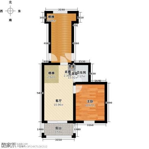 兰若岭秀1室0厅1卫0厨51.00㎡户型图