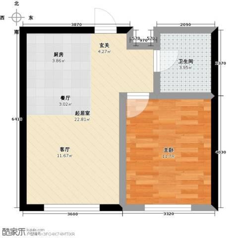 哈东上城1室0厅1卫0厨51.00㎡户型图