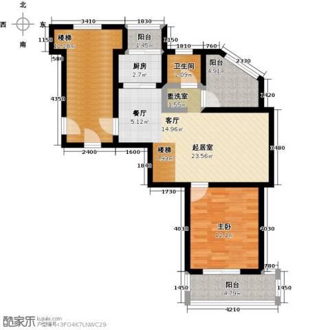兰若岭秀1室0厅1卫1厨75.68㎡户型图