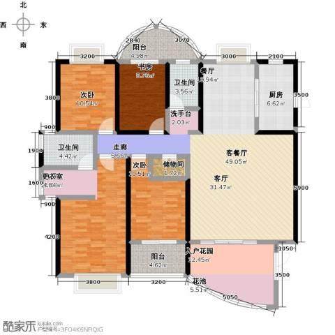 龙泉・华庭4室1厅2卫1厨181.00㎡户型图