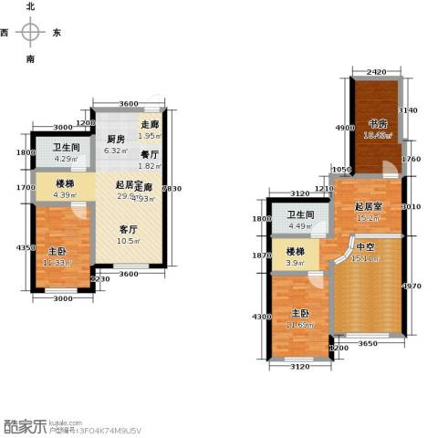 哈东上城3室0厅2卫0厨102.45㎡户型图