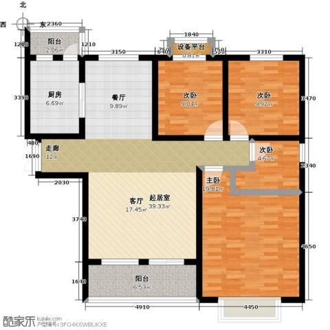 中原国际时代皇庭4室0厅0卫1厨114.00㎡户型图