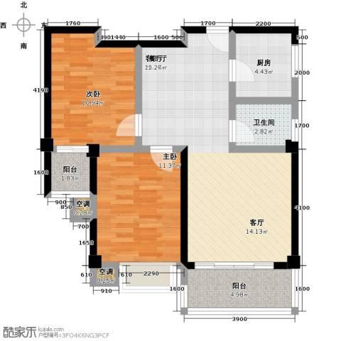 龙泉・华庭2室1厅1卫1厨81.00㎡户型图
