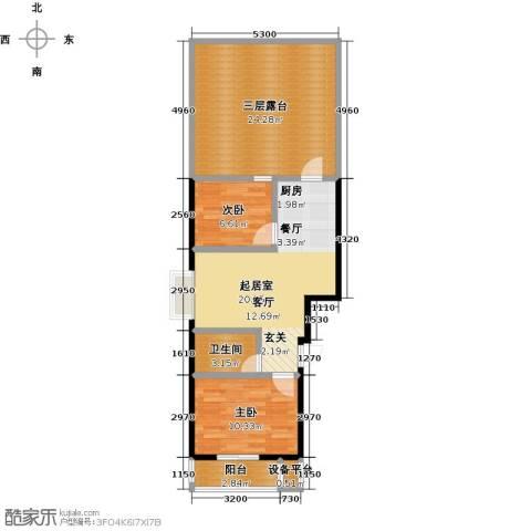 东盛嘉园2室0厅1卫0厨76.00㎡户型图