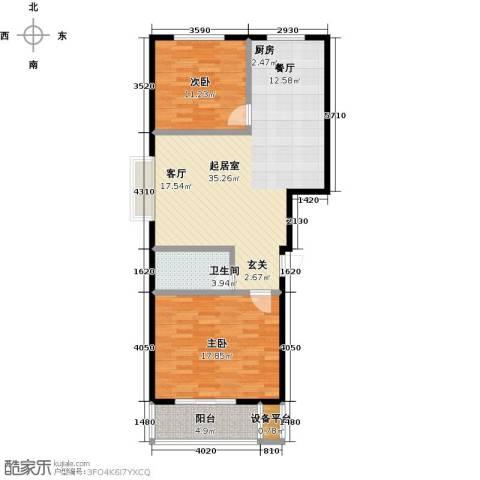 东盛嘉园2室0厅1卫0厨83.00㎡户型图