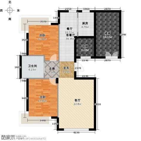阳光世纪城2室1厅1卫1厨93.93㎡户型图