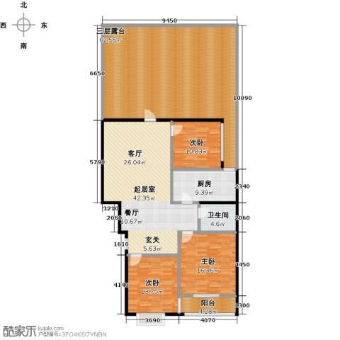 东盛嘉园3室0厅1卫1厨164.21㎡户型图