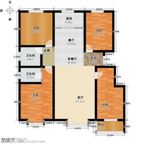 孔雀城4室1厅2卫1厨163.00㎡户型图