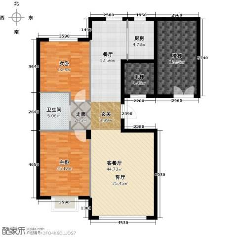 阳光世纪城2室1厅1卫1厨100.56㎡户型图