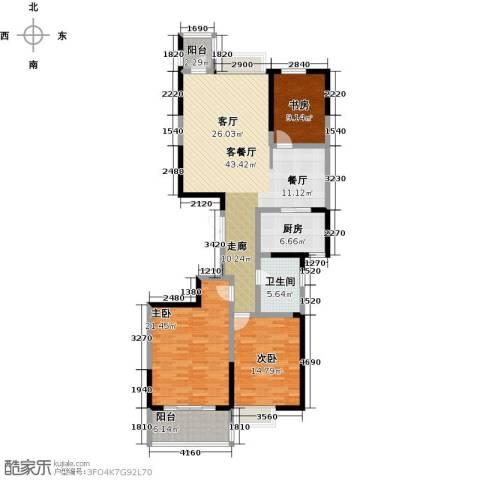 海琴湾3室1厅1卫1厨125.00㎡户型图