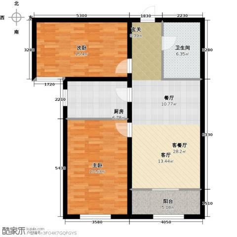 大唐盛苑2室1厅1卫1厨89.00㎡户型图