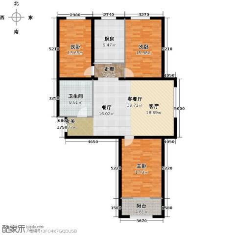 大唐盛苑3室1厅1卫1厨121.00㎡户型图