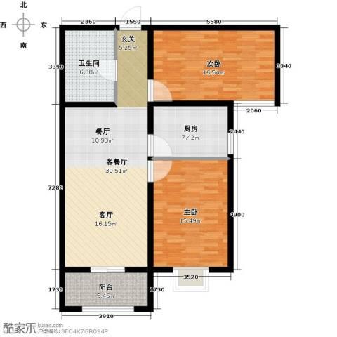 大唐盛苑2室1厅1卫1厨94.00㎡户型图