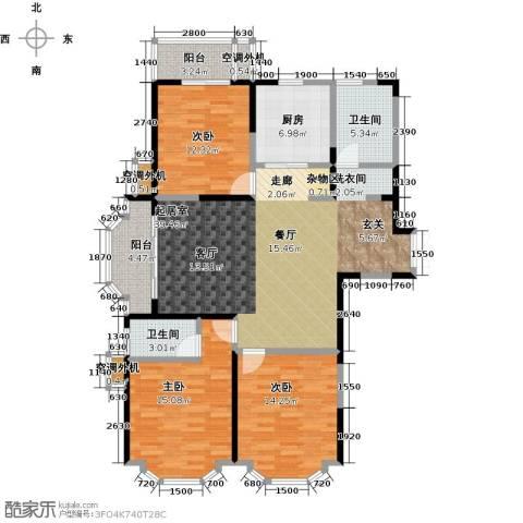 名豪天台苑3室0厅2卫1厨133.00㎡户型图