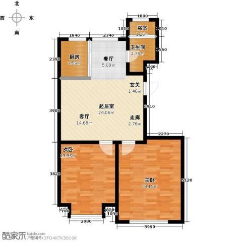 山水家园2室0厅1卫1厨99.00㎡户型图