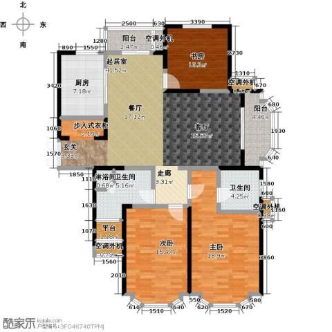 名豪天台苑3室0厅2卫1厨140.00㎡户型图