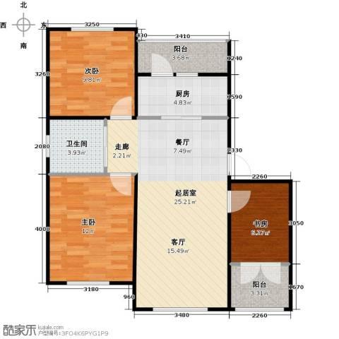 滨才城3室0厅1卫1厨93.00㎡户型图