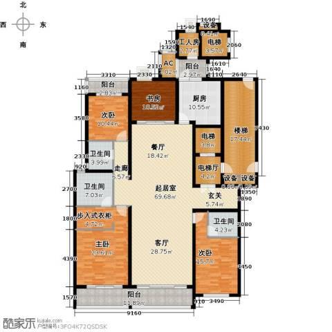 鲁商中心4室0厅3卫1厨239.00㎡户型图