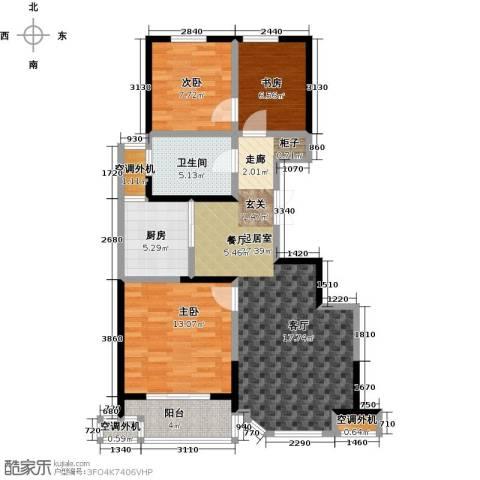 名豪天台苑3室0厅1卫1厨88.00㎡户型图