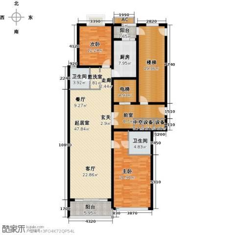 鲁商中心2室0厅2卫1厨164.00㎡户型图