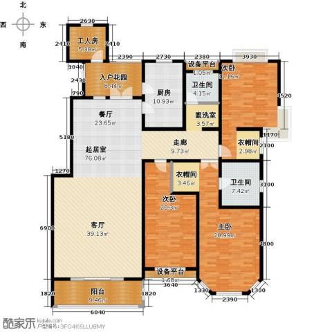 绅派金湖帝景3室0厅2卫1厨243.00㎡户型图