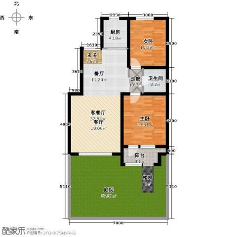 海韵星城2室1厅1卫1厨114.36㎡户型图