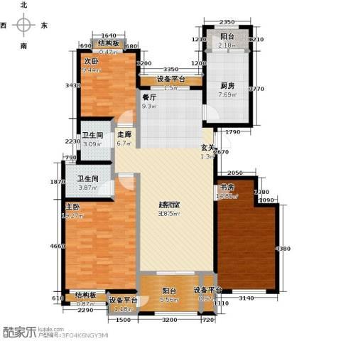 东亚原香小镇3室0厅2卫1厨118.00㎡户型图
