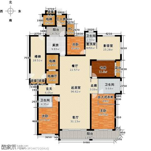 鲁商中心4室0厅3卫1厨278.00㎡户型图