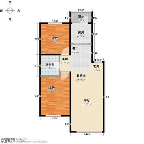 滨才城2室0厅1卫1厨80.00㎡户型图