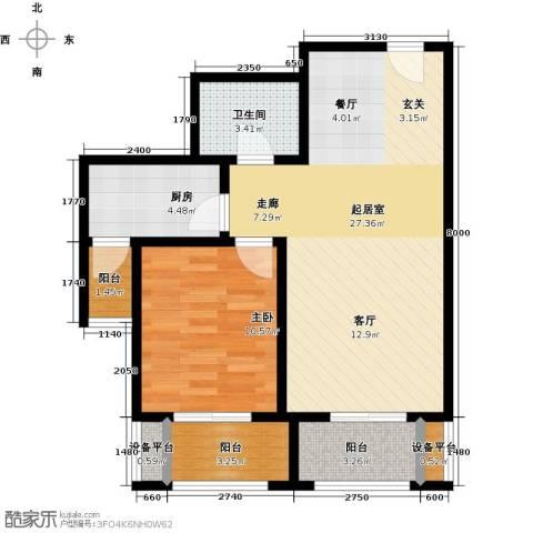 东亚原香小镇1室0厅1卫1厨66.00㎡户型图