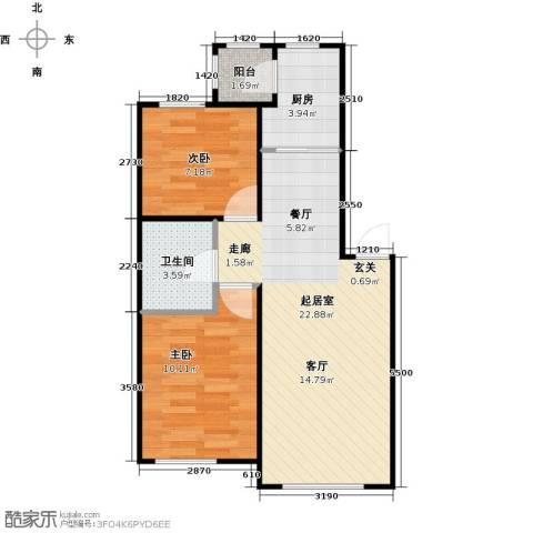 滨才城2室0厅1卫1厨67.00㎡户型图