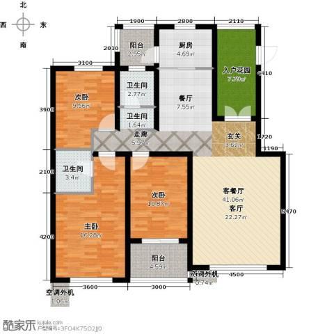 海韵星城3室1厅2卫1厨119.25㎡户型图