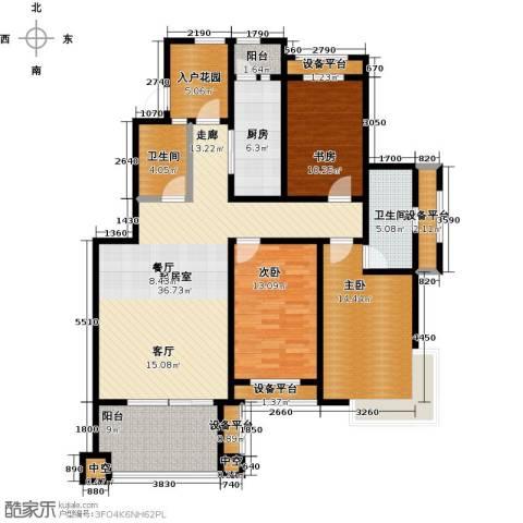 东亚原香小镇3室0厅2卫1厨126.00㎡户型图