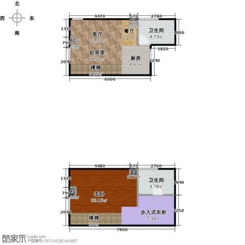 东阙都1室0厅2卫0厨61.00㎡户型图