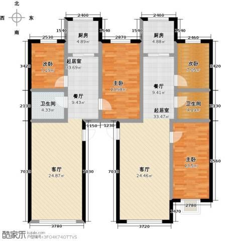 金坤新城花苑4室0厅2卫2厨182.00㎡户型图