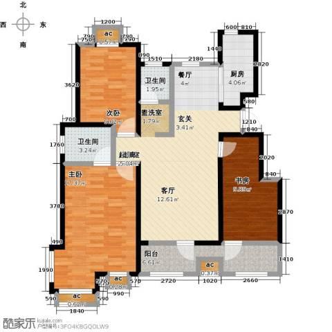 公园世家・观山樾3室0厅2卫1厨130.00㎡户型图