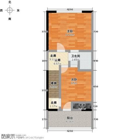 瑞景名郡2室0厅1卫0厨48.00㎡户型图